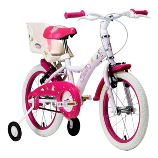 Bicicleta Infantil 4- 6 Anos Tito Unilover Aro 16 Unicórnios