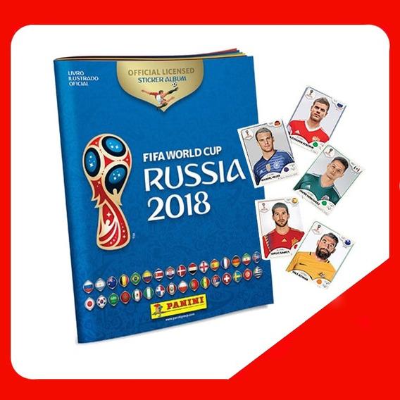 Album Figurinhas Copa Do Mundo Rússia 2018 + 6 Figurinhas