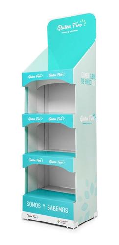 Exhibidor Prienzo Con Estantes  Carton Corrugado Impreso