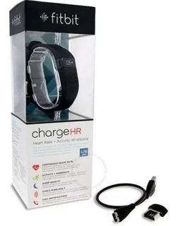 Pulseira Fitbit Charge Hr Monitor Preto Large Original Nacx