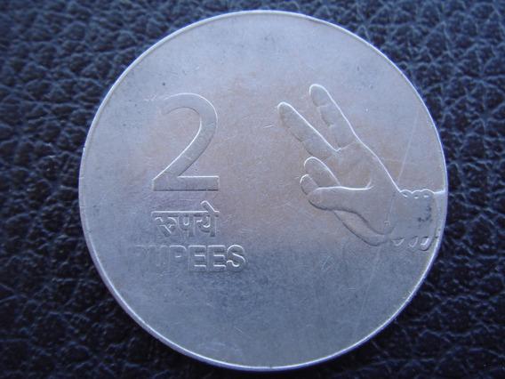 India - Moneda De 2 Rupias, Año 2007 - Muy Bueno