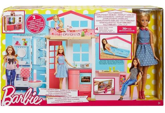 Casa Da Barbie Com Boneca - Barbie E Sua Casa - Mattel Dvv48