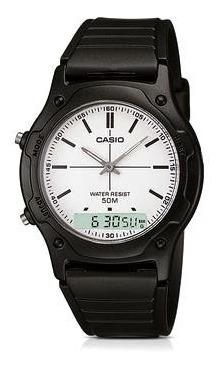 Relógio Casio Masculino Pulseira Borracha Aw-49h-7evdf
