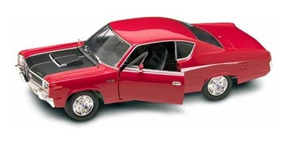 Miniatura Carro Amc Rebel 1970 Vermelho 1:18 Yat Ming 92778