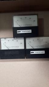 Amperimetro De 0 A 100 Ac-frente Retangular-fundo Redondo