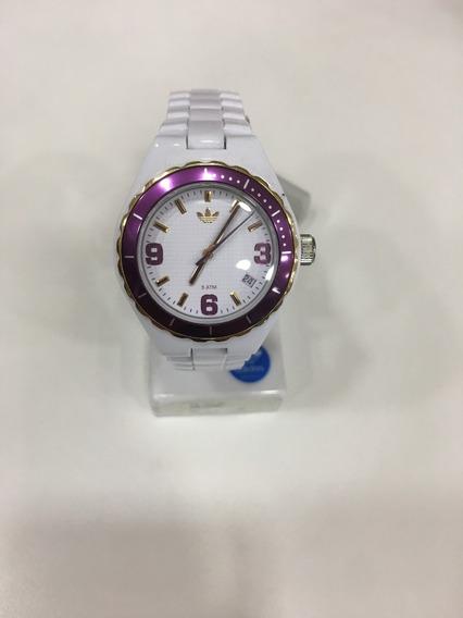 Relógio De Pulso adidas Adh2731 Branco Roxo Feminino Origina