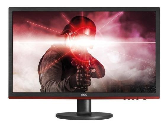 """Monitor AOC G2460VQ6 LED 24"""" preto 110V/220V (Bivolt)"""