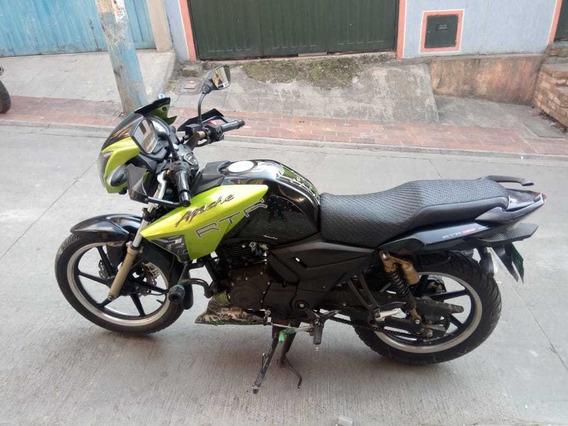 Tvs Apache Rtr180 Negro Verde