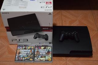 Consola Playstation 3 Ps3 160gb Con Gta 5 & San Andreas