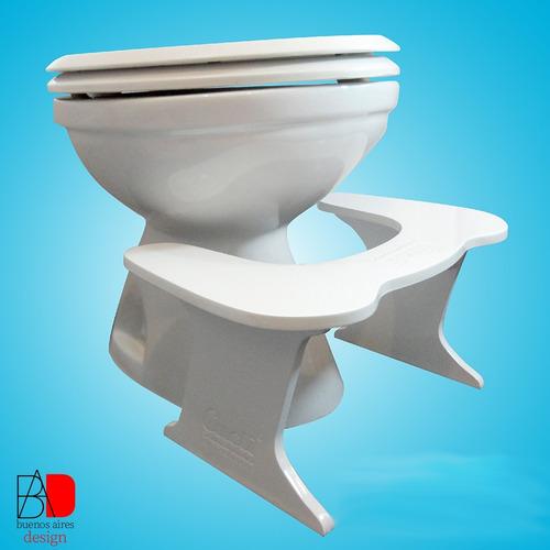 Imagen 1 de 8 de Banco Taburete Para Inodoro Mejor Postura Banquito Sanitario