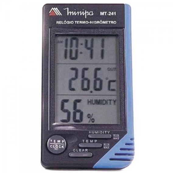 Relógio Termo Higrômetro Mt 241 Minipa