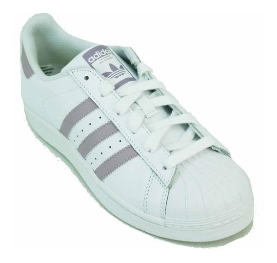 Zapatilla adidas Ori Superstar Blanco/lila Dama Deporfan