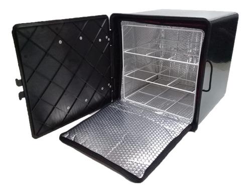 Combo Caja Delivery 40x40x40 Bolso Térmico C/ Reja Y Zunchos