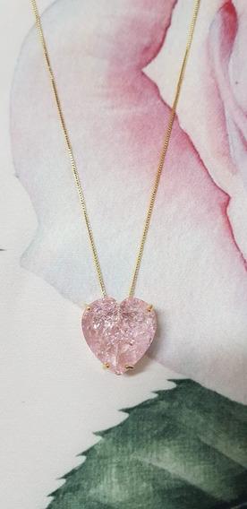 Colar Pedra Fusion Coração