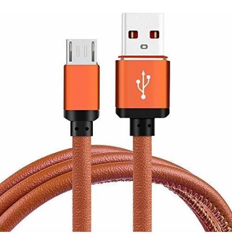 Cable Usb 3.0 A Micro Usb Carga Y Datos Cuero Reforzado 1 Mt