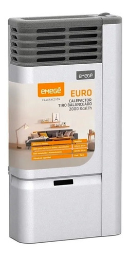 Imagen 1 de 5 de Calefactor Tiro Balanceado Emege Euro 2000 Calorias Multigas