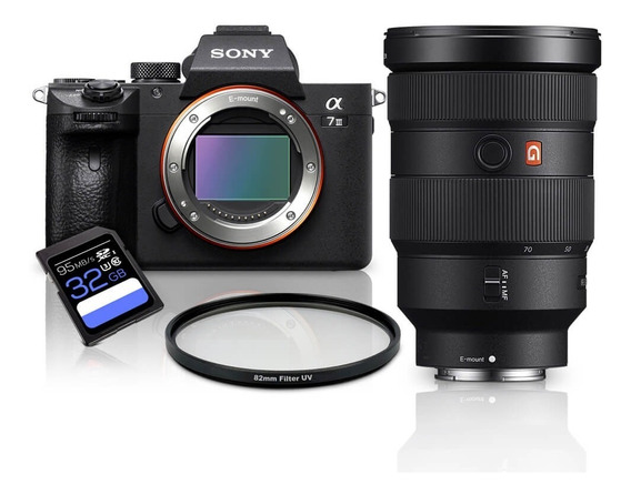Kit Sony A7iii Mirrorless + Fe 24-70mm Gm + Uv 82mm+ Sdxc 32gb A7miii / A73 / A7m3 / A7 Mark3 / A7 Iii / Ilce-7iii