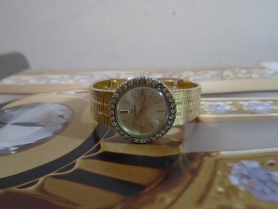 Silvana Lady Feminino Antigo Lindo Folhado Ouro Pedras Raro