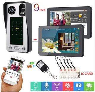 Video Portero Wifi Control Acceso 2 Monitores 9 App Celular