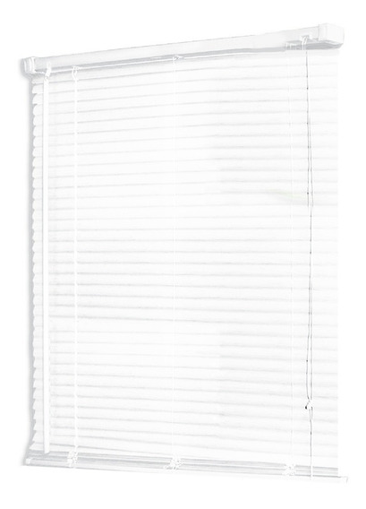 Persiana Scala Horizontal De Pvc 25 Mm 140x160 Color Blanco