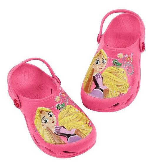 Babuche Ventor Kids Rapunzel Enrolados Disney - Pink