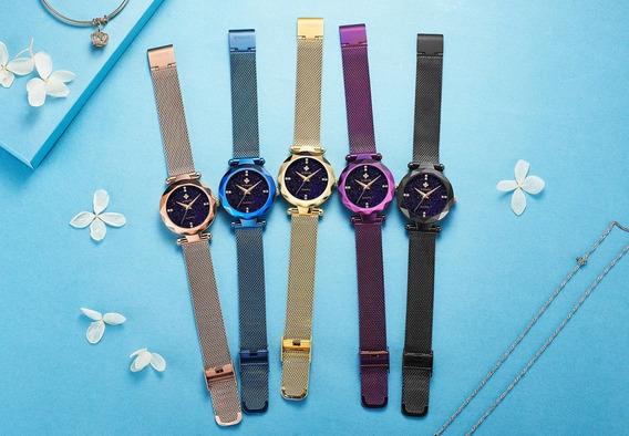 Relógio Feminino De Luxo À Prova D
