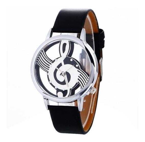 Relógio Feminino Clave De Sol Pulseira Preto Promoção!!!