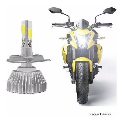 Lampada 3d Super Led H4 Moto 4000lm Alto+baixo + Forte Xenon