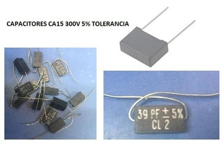 Capacitor Ca15 300v 5% X 5 Unidades (made In France)