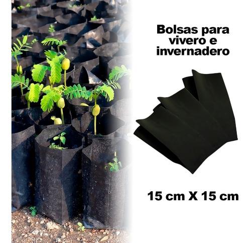 Imagen 1 de 4 de Bolsa  Vivero Trasplante 15 Cm X15 Cm 2 Perforaciones 1kg