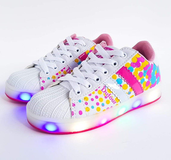 Zapatillas Con Luces Led Multicolor Para Niñas Dufour