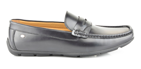 Zapato Tipo Mocasín Para Hombre Lob Footwear 524-9503 Negro Nuevo Oi19