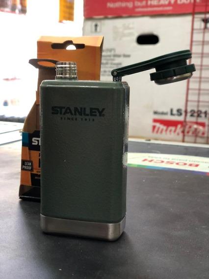 Petaca De Acero Inoxidable Stanley 147ml Verde