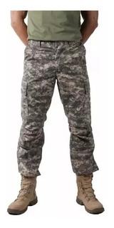Calça Combat Camuflada Digital Acu Masculina 6 Bolsos