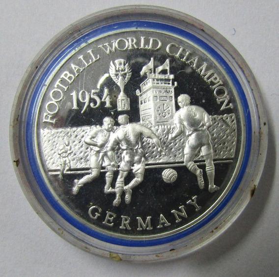 Zambia 500 Kwacha 2001 Plata Futbol Alemania Campeon 1954