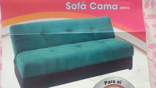 Sofa Cama Matrimonial Verde Azul Turquesa Sala Recamara Entr