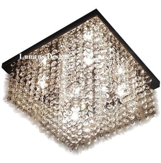 Lustre Cristal Autentico Legítimos 30x30 Promoção Ld006c