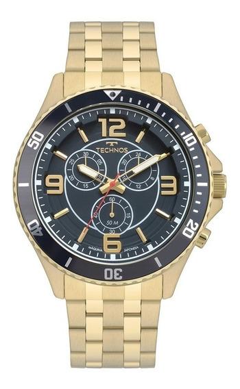 Relógio Technos Racer Dourado Js00ao/4a Original