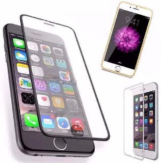 Película Vidro Temperado 3d iPhone 6 7 8 Plus Borda Alumínio