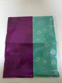 Conjunto - 2 Echarpes / Lenços Multiuso Maia - Verde E Rosa