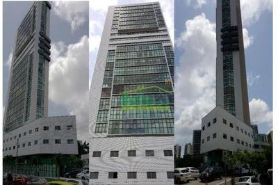 Sala Para Alugar, 180 M² Por R$ 8.100/mês - Boa Vista - Recife/pe - Sa0088