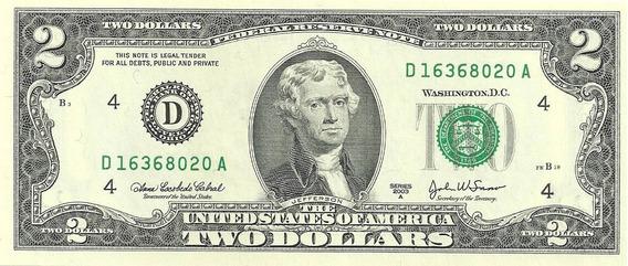 Billete Estados Unidos 2 Dolares Año 2009 Sin Circular