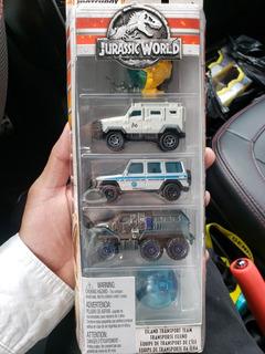 Jurassic World Carritos De Juguete (5 Unidades)
