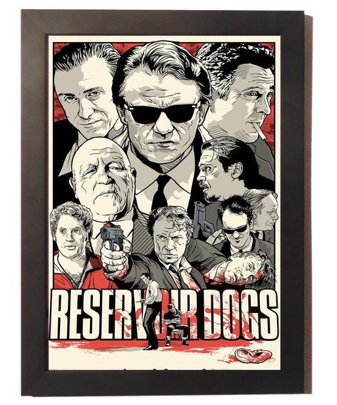 Quadro Poster Com Moldura Cães De Aluguel Reservoir Dogs