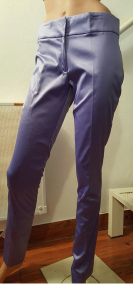 Pantalon De Raso Elastizado. Tiro Medio