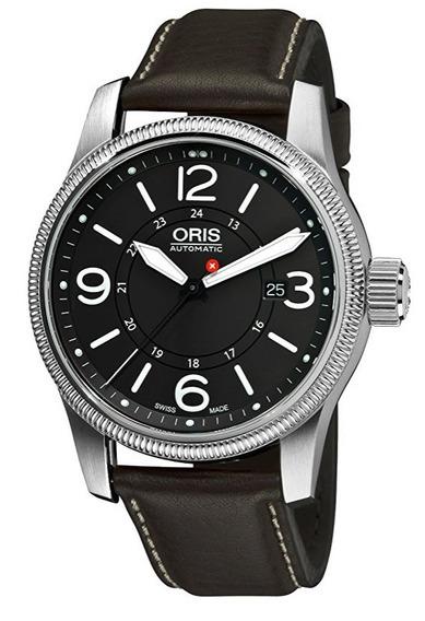 Reloj Oris Hunter Acero Piel Café Hombre 73376294063ls