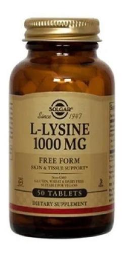 Aminoacido L Lysine Lisina 1000mg - 50 Tabletas