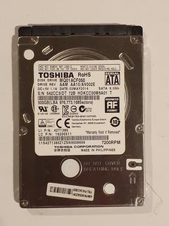 Disco Duro Toshiba Sata 2.5 500gb Mq01acf050