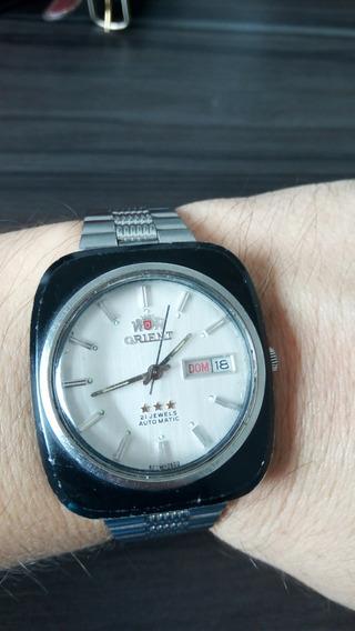 Exclusivo Relógio Vintage Orient Quadrado Caixa Preta Automático -- Um Show