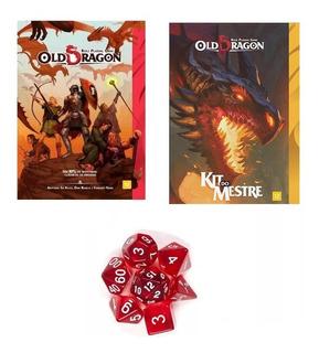 Combo Old Dragon: Livro Básico + Kit Do Mestre + 6 Dados